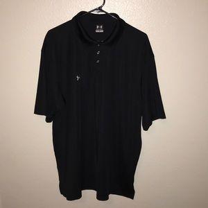 Under Armour Black Athletic Polo Shirt Men's XL